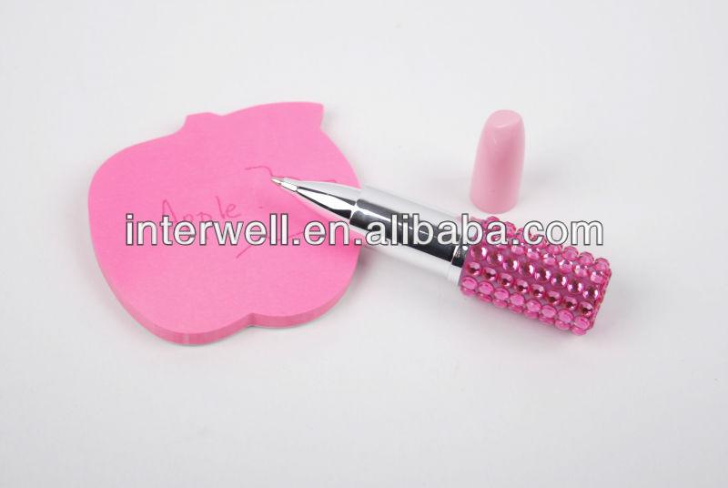 lipstick pen lipstick pen with diamond light up lipstick pen view
