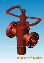 manual rising stem gate valve with balanced bar