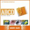 100m/m Number & plastic letter stencils