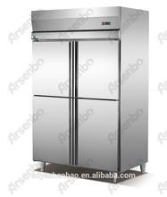fan cooling stainless steel upright freezer