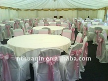 Polyester fashion banquet chair cover with satin sash wedding chair cover good market chair cover