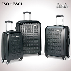 Big brand design hot sale polycarbonate PC travel trolley luggage