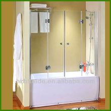 HTSS-BS2 Bathtub folding tempered glass shower screens