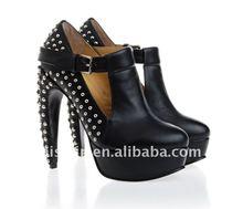 Big size women's Black Shoes high heel top quality/ladies shoes high heel black