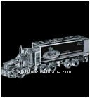 clear antique 3d crystal truck model