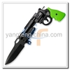 "7"" Gun Shaped Assist Opening Folding Pocket Knife"
