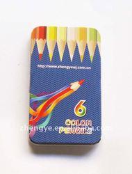 """6colour 3.5"""" tin pencil box"""