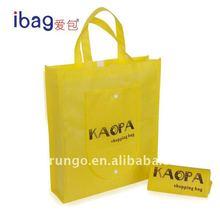 Silk screen print non woven foldable shopping bag, non-woven eco bag