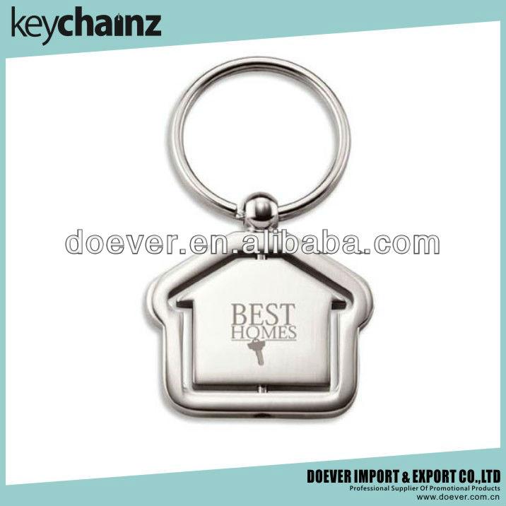 EM-20115014 Elegant House Shaped Metal Key Chain