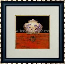 Glass picture photo frame black velvet painting