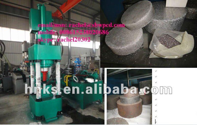 Metal chatarra de briquetas máquina de la prensa / chatarra compactador de la máquina