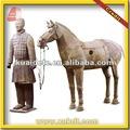 Antiga estátua chinesa Xian terracota soldado para decoração de jardim BMY-1237