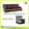 Limpeza de couro com couro gak-06-2 conjunto de cuidados para o pleno e corrigido sofá de couro