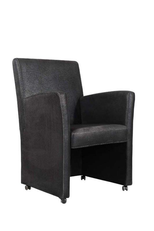Accoudoir chaise manger avec roulettes chaises de salle for Fauteuil pour salle a manger