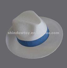 Fashion white Paper panama hat, Panama straw hat, White straw hat
