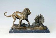 MILO art works Lion and Porcupine statues TPAL-112 bronze animals decor sculpture