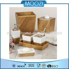 Moozi hotel balfour bathroom accessories, home bathroom accessory set natural bathroom design soap dispenser