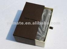 2012 new black paper sunglass box with silk --EB-20