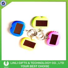 plastic apple shaped solar flashlight keychain