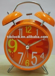 Metal twin bell portable travel flip clock