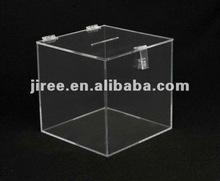 Clear Acrylic Donation Box/Charity Box