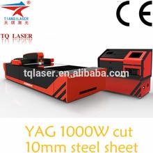 Yag Laser 1000W carbon steel / stainless steel CNC laser cutting machine price