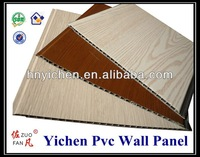 Building material black back V groove laminated pvc wall panel for indoor decoration