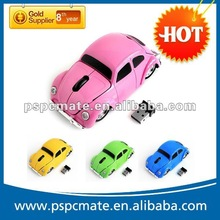 Click 2.4ghz wireless fashionable beetle car mouse Car VW Beetle Car Wireless Computer Mouse