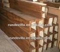 d de poliuretano de imitación de madera decoración de las vigas del techo