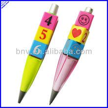 Cartoon design square and fat barrel recycling plastic big pens