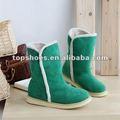 Botas de neve, mulheres botas de couro vermelho