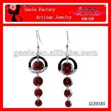 2013 new sweet style earring of cool red zircon angle's tear earring