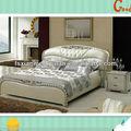 de estilo europeo de lujo mobiliario de dormitorio princesa cama de cuero real juegos de dormitorio l651
