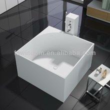 Italian Solid Surface Square Bath Tub WD6549