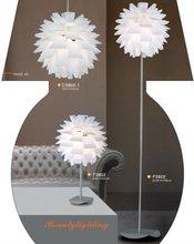 cheaper CFL or LED source PVC pendant lamp/European Type and pp Material lamp shade vase light C3802
