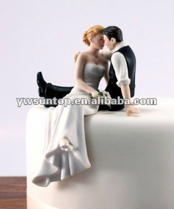 The Look of Love Bride and Groom Couple Figurine wedding cake topper