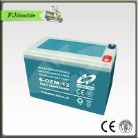 6-DZM-12 Battery Seal Maintenance Free storage Electric Bike battery Exide battery(12V12AH)