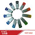 Más barato 4gb giratorio usb pen drive, unidad flash usb de la pluma libre de la insignia