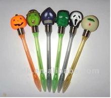 Novelty Halloween LED light Ball Pen