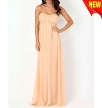 Gathered Chiffon Maxi Dress 122104
