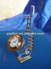 crystal gift ,crystal table clock good crystal saxophone clock ,