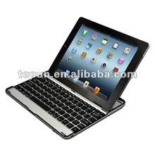 Hot sale 3 in 1 (Wireless Bluetooth Keyboard+Aluminum Case+iPad2 Stand) Aluminum bluetooth keyboard for iPad 2/3