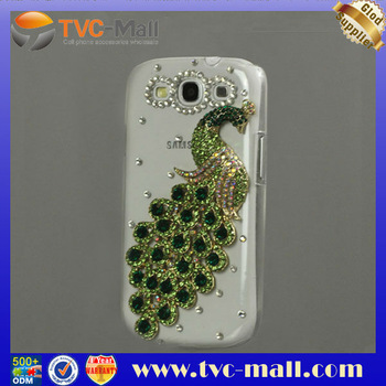 Luxury Peacock Diamond Crystal Case for Samsung Galaxy S 3 / III I9300 Free Shipping MHC-I9300-112