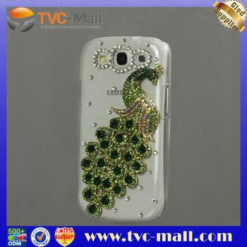 Luxury Peacock Diamond Crystal Case for Samsung Galaxy S 3 / III I9300 Free Shipping MHC-I9300-112