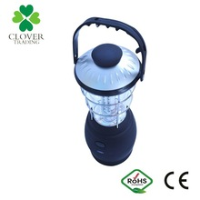 caping using 12 LED Hand Crank Dynamo rechargeable led lantern