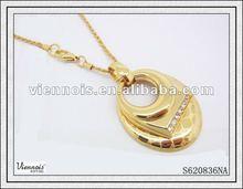 2014 Fashion Ladies Hot Sale Pendant Necklace golden necklace