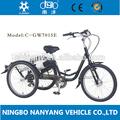 2015 venta caliente eléctrica triciclo para adultos/36v/250w gw7015e triciclo