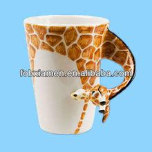 Wholesale novelty ceramic animal mug craft