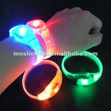 Size adjustable LED sound activated Flashing bracelets wristbands,China manufacturer & supplier & Maker & Factory,