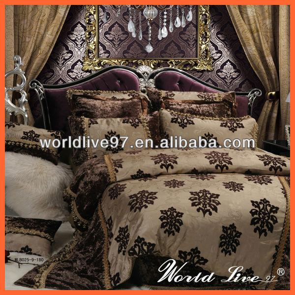 Wlb025-9 moderna de gamuza elegante conjuntos de ropa de cama ...